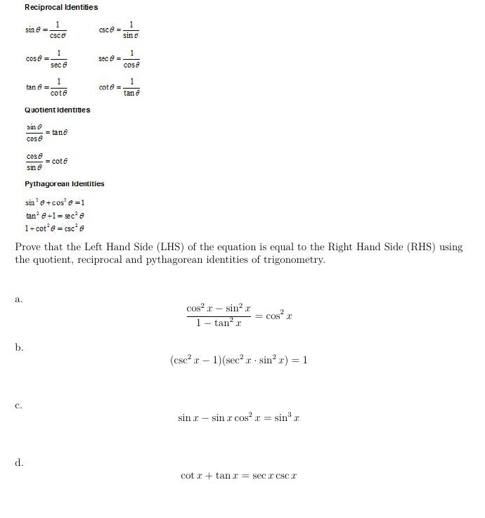 Proving Trigonometric Identities : HSF-TF C 8 | Better Math